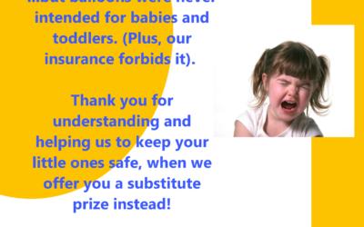 Toddler Safety Tip: Balloons Beware