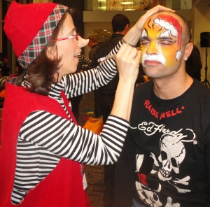 Rudy the Face Painting Elf from A Touch of Magic Entertainment smaller