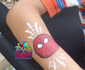 Spidey Face Painting by A Touch of Magic Entertainment