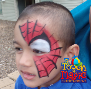 Spiderman Face Paint by A Touch of Magic Entertainment