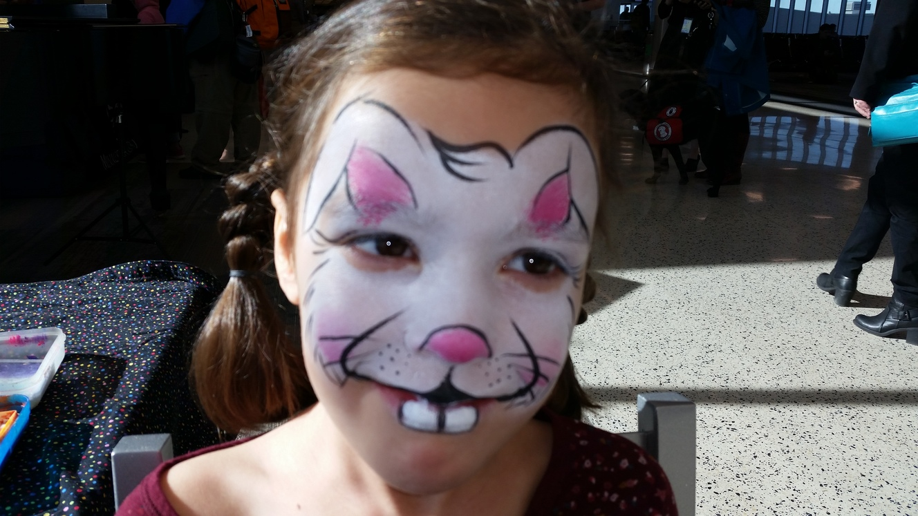 Easter Bunnies Face Painting