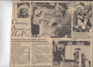 Half Pint in Pine River Journal newspaper 7-21-1994
