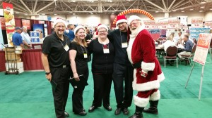Santa and Carolers with A Touch of magic Entertainment
