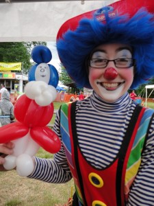 Teaspoon the Clown with Balloons from A Touch of Magic, Inc.